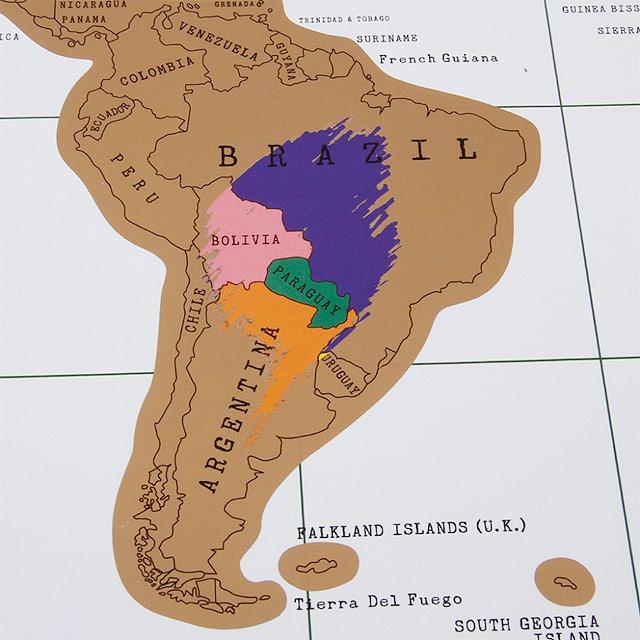 A América do Sul vai ganhando cor...