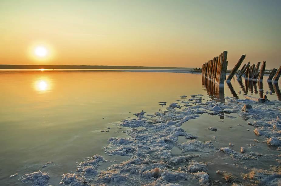 Pôr do sol no Mar Morto