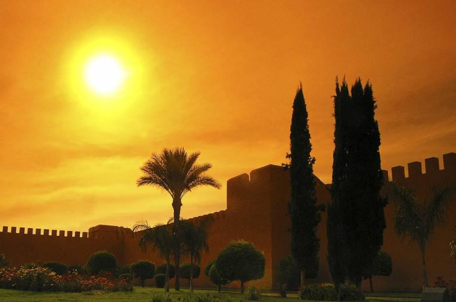 Ruínas do Palais El Badi, em Marrakesh