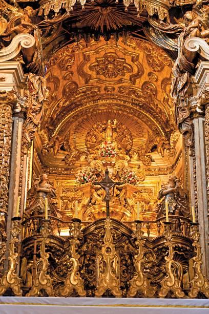 Detalhe do altar na Matriz de Santo Antônio, Tiradentes (MG)