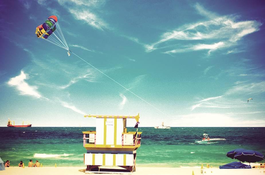 No fim do ano, a temperatura de Miami é mais amena - perfeita para quem não quer ficar ensopado de suor