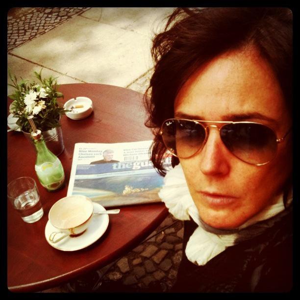 Milly Lacombe agora usa a camiseta I amo NY (foto: arquivo pessoal)