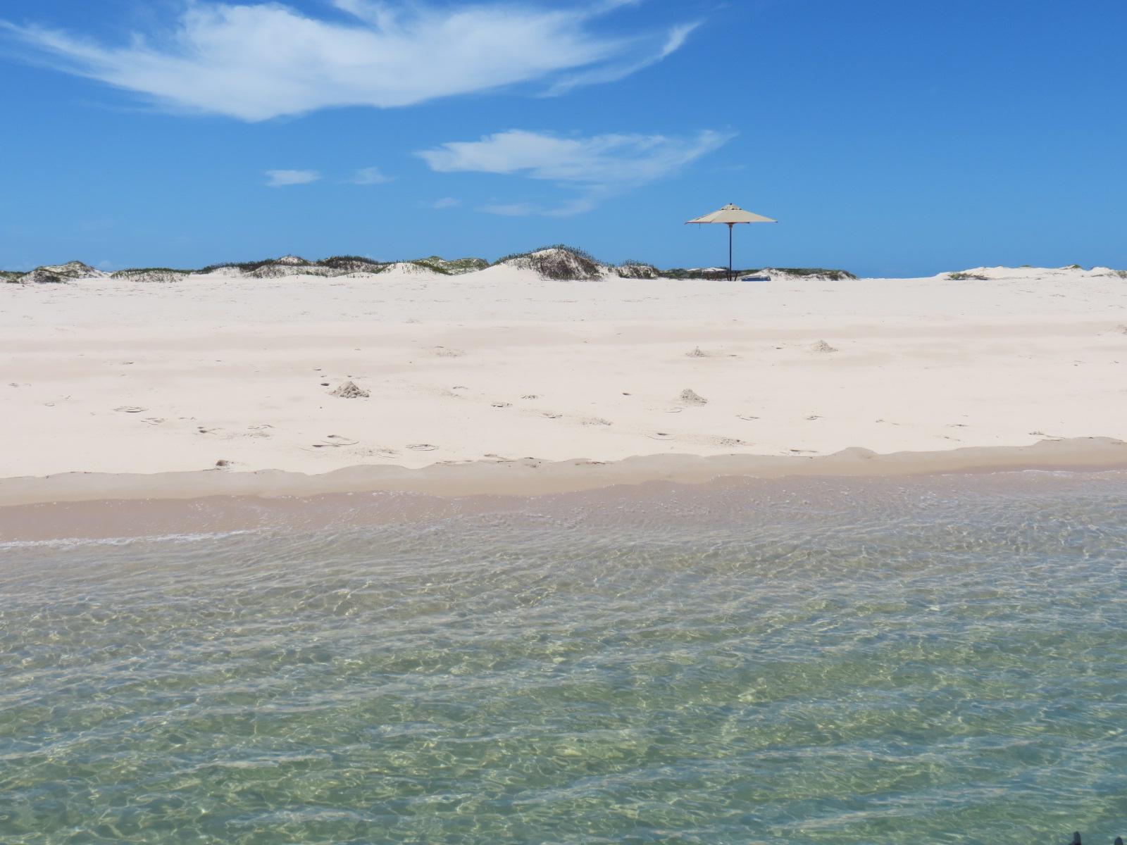 Praia do arquipélago de Bazruto: a perfeição