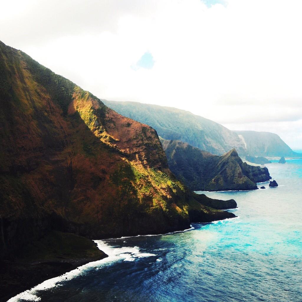 A chegada em Molokai, ilha cinematográfica com menos de 10 mil habitantes (foto: Anna Laura Wolff)