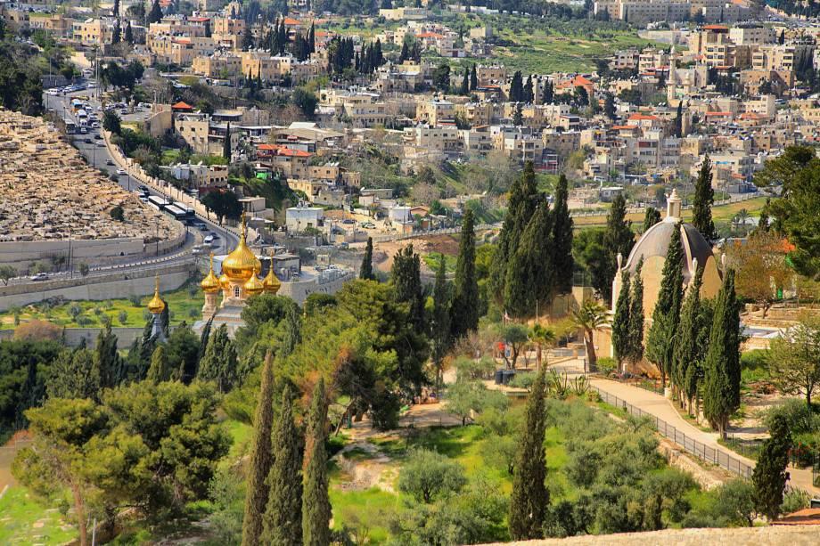 Vista de Jerusalém a partir doMonte das Oliveiras