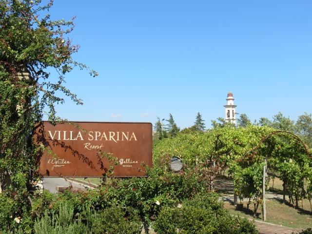 A entrada do Villa Sparina Resort
