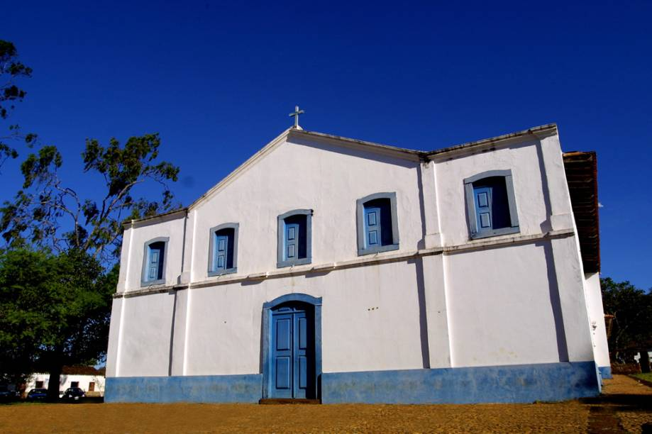 Tombada pelo Patrimônio Histórico, a Igreja Nossa Senhora de Santana do Sacramento, na Chapada dos Guimarães (MT), teve o altar e a fachada restaurados