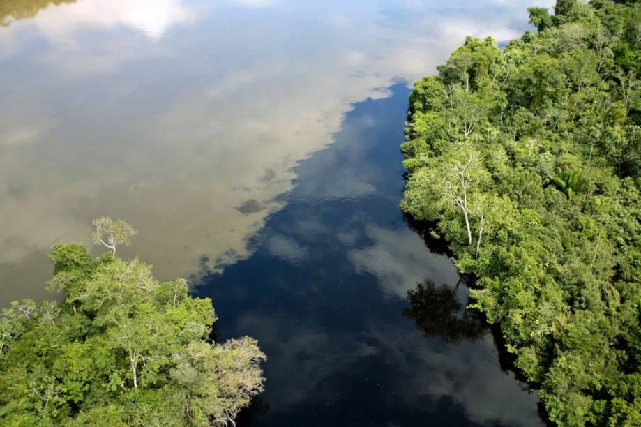 O famoso encontro das águas não é exclusividade de Manaus (AM). O evento, em menor escala, também pode ser observado em Alta Floresta (MT)