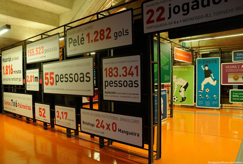 Sala dos números no Museu do Futebol (foto: divulgação)