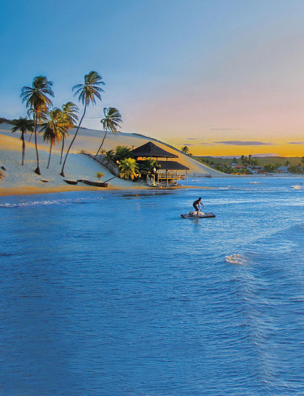 A Praia de Genipabu, no Rio Grande do Norte
