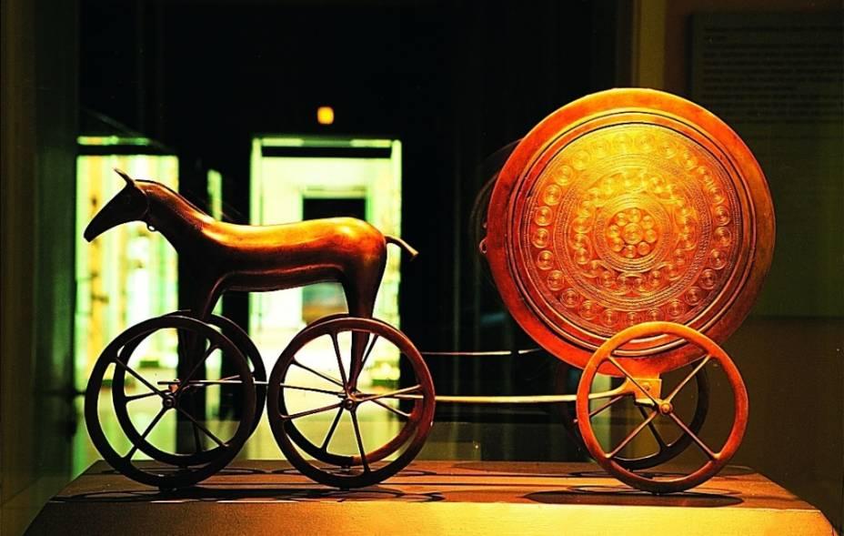 Carrueagem do sol, no Museu Nacional de Copenhague