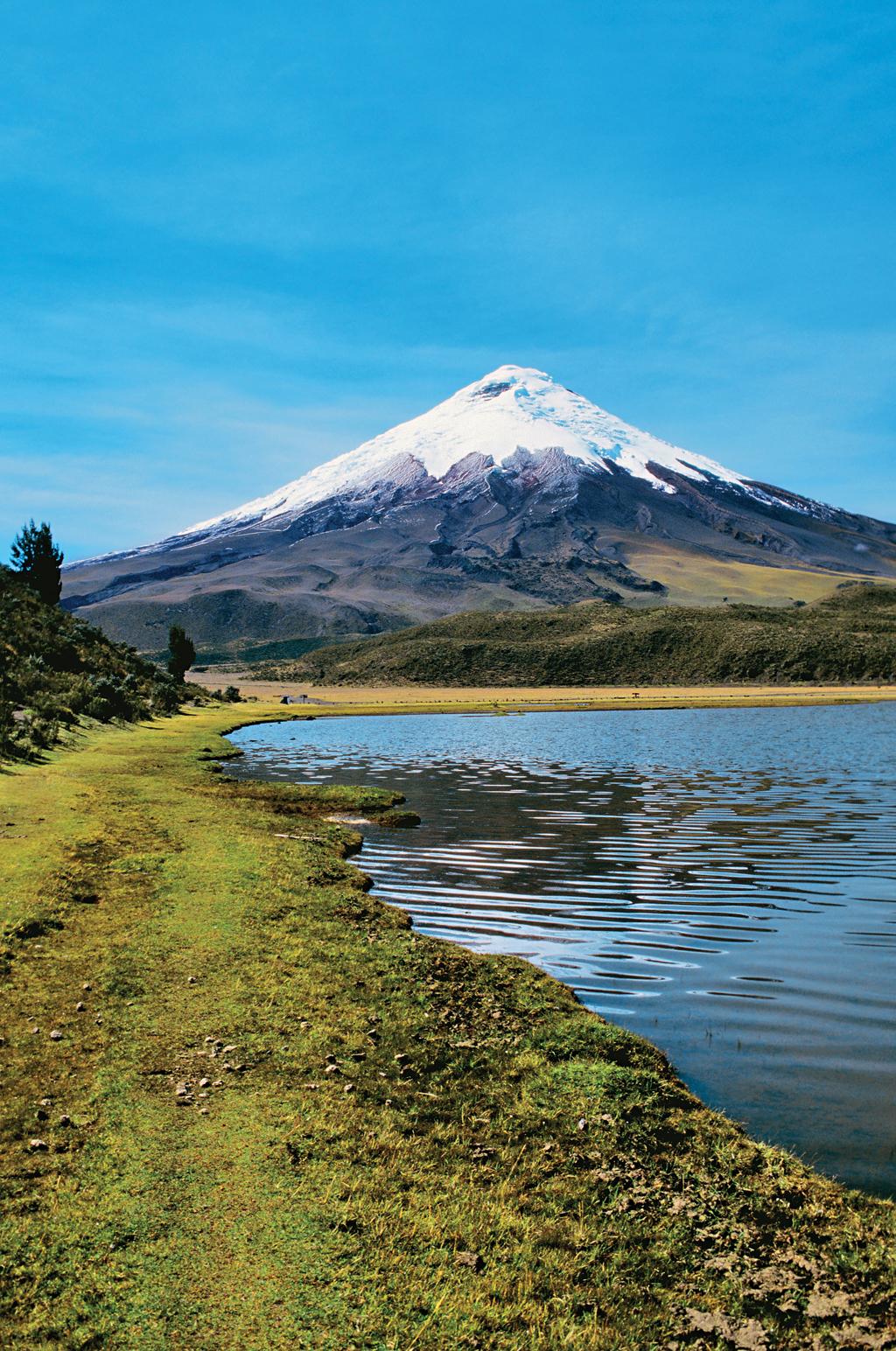 O vulcão Cotopaxi, no Equador