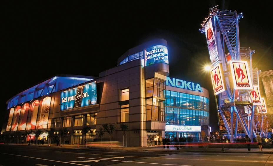 O Nokia Theatre, no complexo LA Live, uma Times Square no renovado Downtown