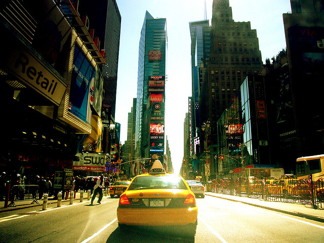 Yellow cab em Manhattan (foto: Kaysha/Flirck/creative commons)