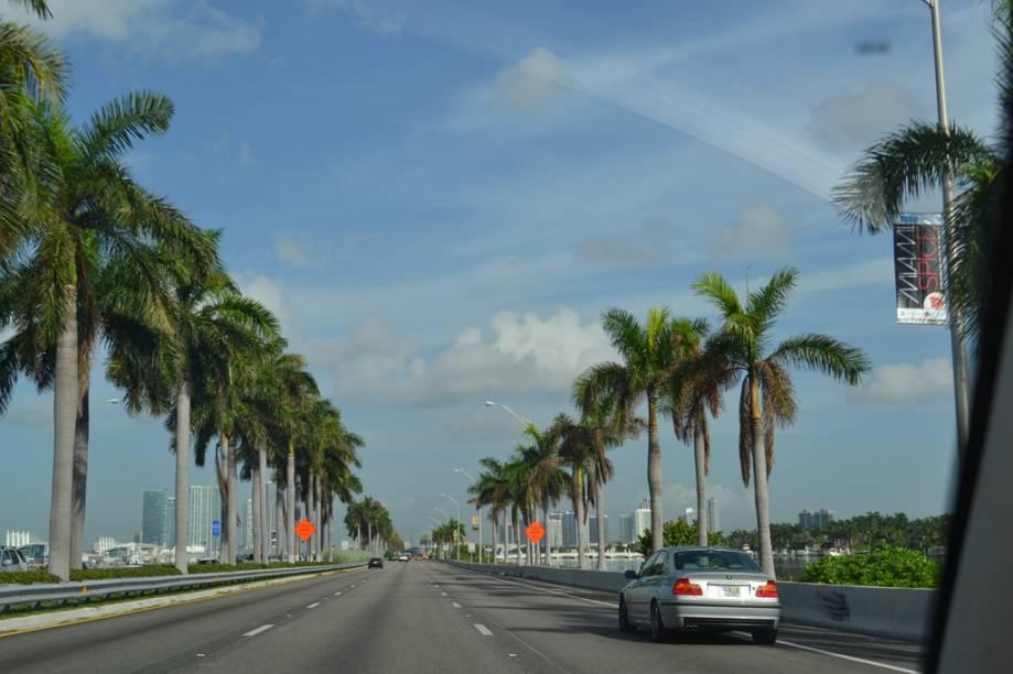 Em Miami, é possível alugar carros de luxo por preços bem mais acessíveis que no Brasil e passear pelas avenidas da cidade