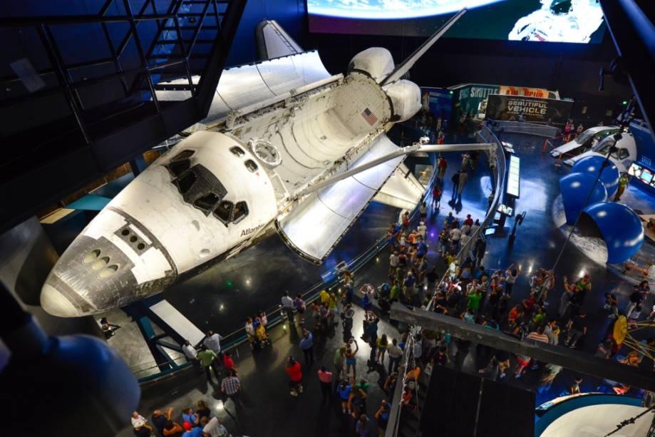 O ônibus espacial Atlantis voou 200 milhões de quilômetros antes de chegar ao Kennedy Space Center