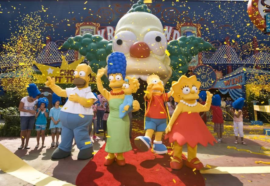 Desde 2008, a atração The Simpsons Ride, na Universal Studios, leva os visitantes para um divertido passeio ao parque de diversões fictício chamado Krustyland. É um simulador com imagens de altíssima definição em que os espectadores se metem em confusões ao lado de Homer e companhia