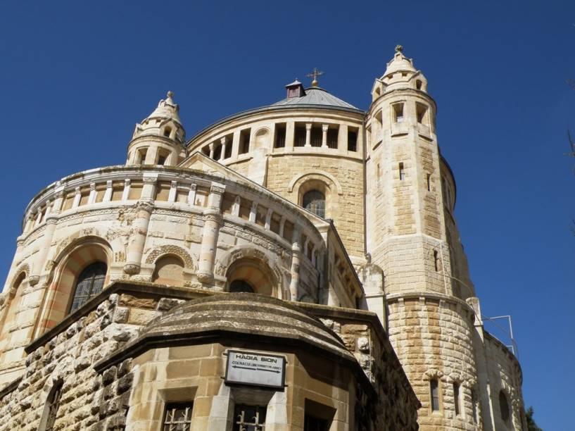 Abadia de Hagia Maria, no Monte Sião, Jerusalém. O local contém a cripta do Sono Eterno e o Cenáculo, suposto local da Última Ceia de Jesus e seus apóstolos