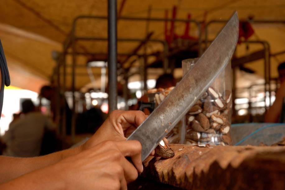 No norte brasileiro é possível comer a Castanha do Pará ainda fresca, aberta com golpes de fação, o que resulta em um sabor diferente da Castanha do Pará já seca