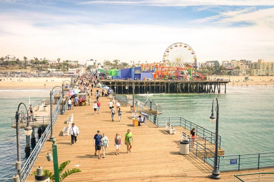 No píer de Santa Monica, fica oPacific Amusement Park
