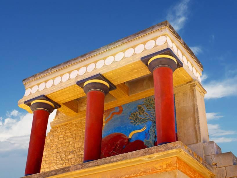 Palácio de Cnossos, em Creta, local de origem do mito do minotauro