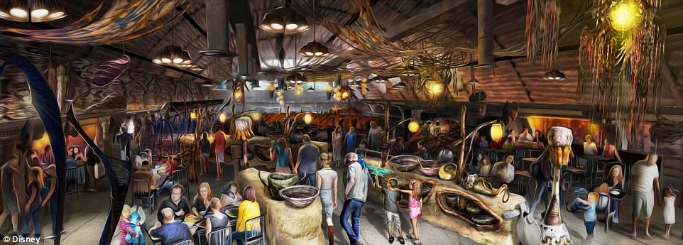 A área Pandora, The World of Avatar terá um restaurante temático