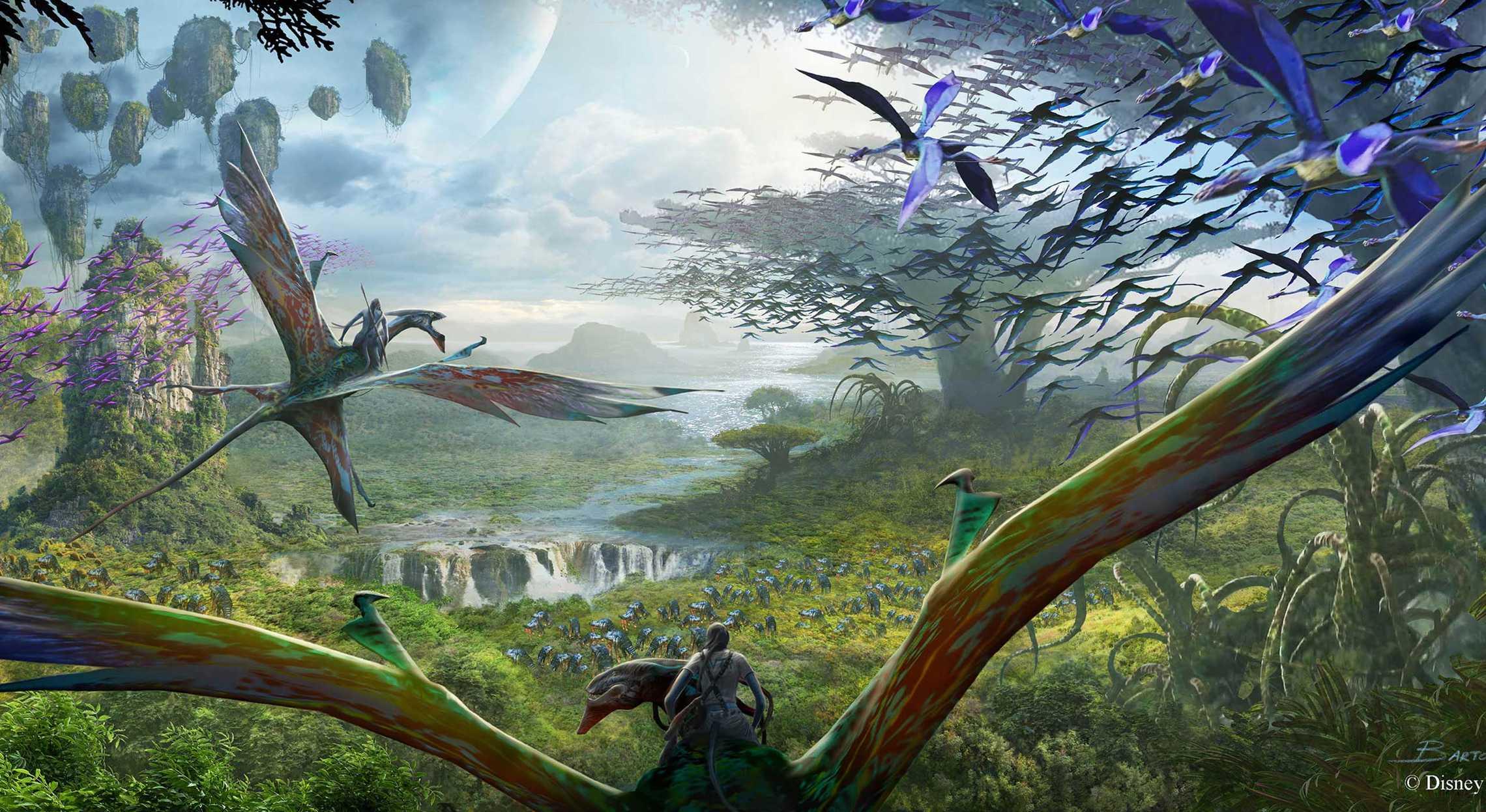 Essa arte conceitual mostra como será a atmosfera dessa nova área, que vai expandir e muito o Animal Kingdom