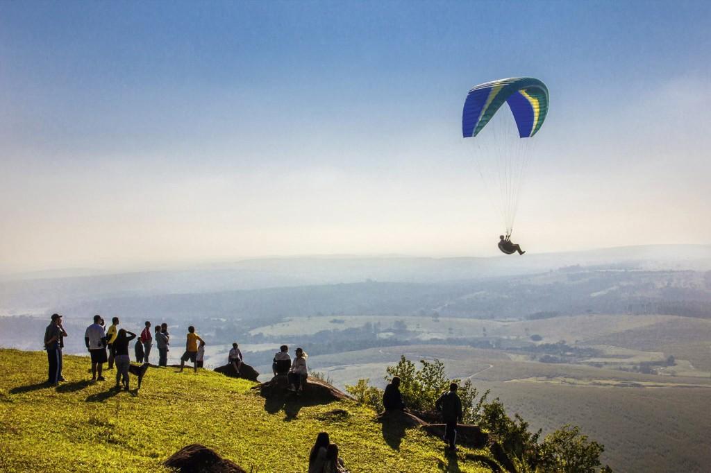 Paraglider no Morro da Indiana / Divulgação