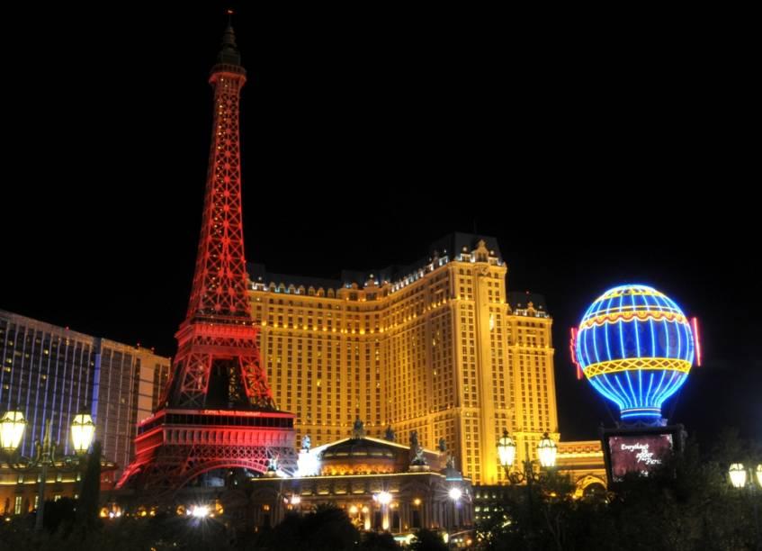 A Paris de Las Vegas, que conta com a maior réplica da Torre Eiffel do mundo
