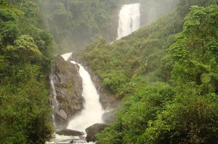 """A Cachoeira dos Veados tem um dos acessos mais difíceis dentre as cachoeiras que se encontram no <a href=""""http://viagemeturismo.abril.com.br/atracao/parque-nacional-da-serra-da-bocaina/"""" target=""""_blank"""">Parque Nacional da Serra da Bocaina</a>, na divisa entre os Estados de <a href=""""http://viagemeturismo.abril.com.br/estados/sao-paulo/"""" target=""""_blank"""">São Paulo</a> e <a href=""""http://viagemeturismo.abril.com.br/estados/rio-de-janeiro/"""" target=""""_blank"""">Rio de Janeiro</a>. As duas quedas d'água que somam 200 metros só são acessíveis pela <a href=""""http://viagemeturismo.abril.com.br/atracao/trekking-na-trilha-do-ouro-2/"""" target=""""_blank"""">Trilha do Ouro.</a>A caminhada é intensa e tem pelo menos 5 horas de duração."""
