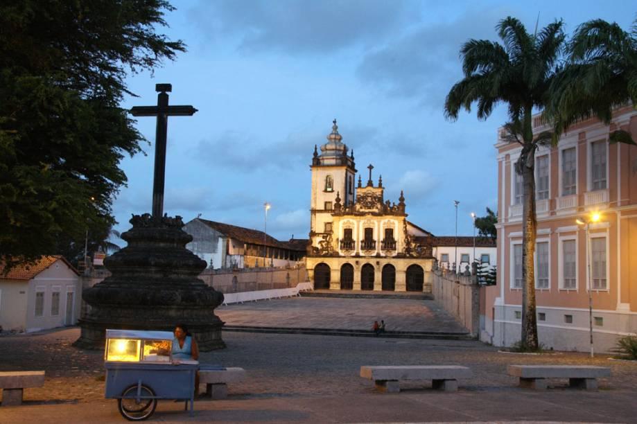A Igreja de Santo Antônio fica no Centro Cultural de São Francisco, a principal atração do centro histórico de João Pessoa (PB)