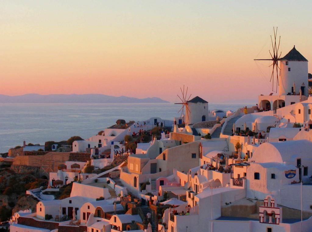 Pôr do sol em Santorini (foto: karol m)