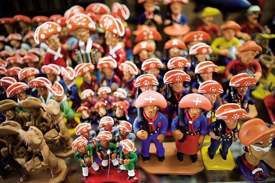 No antigo Mercado de São José, em Recife (PE), lojas vendem redes, brinquedos e ingredientes típicos, como carne de sol e castanha de caju