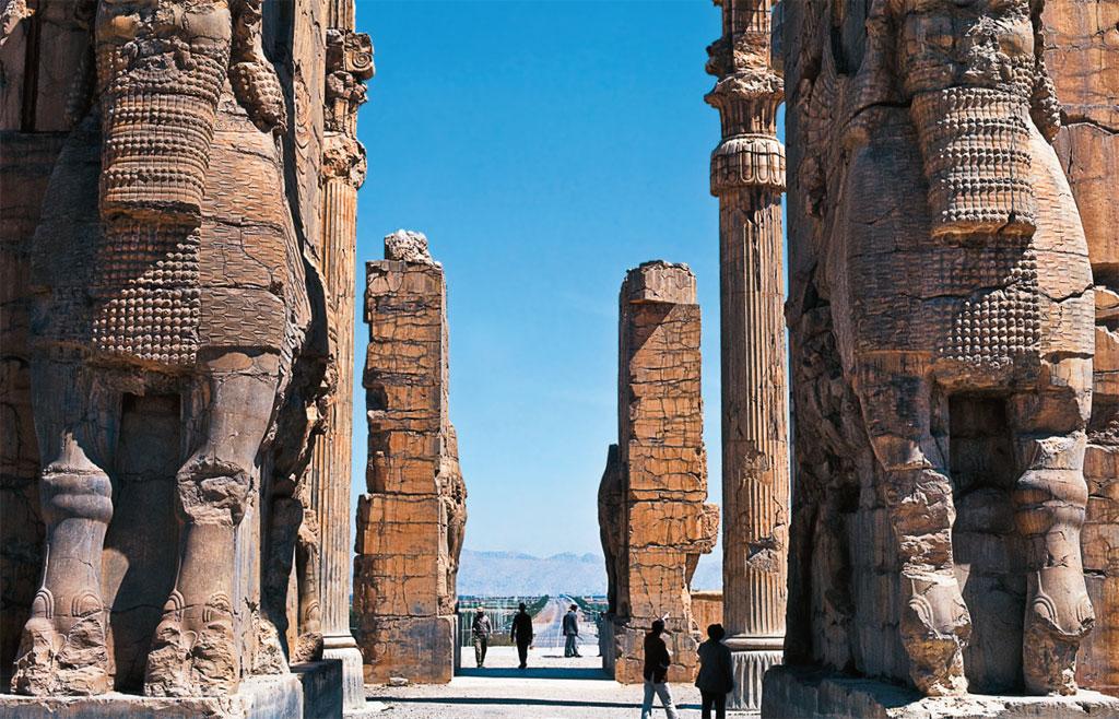 As ruínas de Persépolis, no Irã