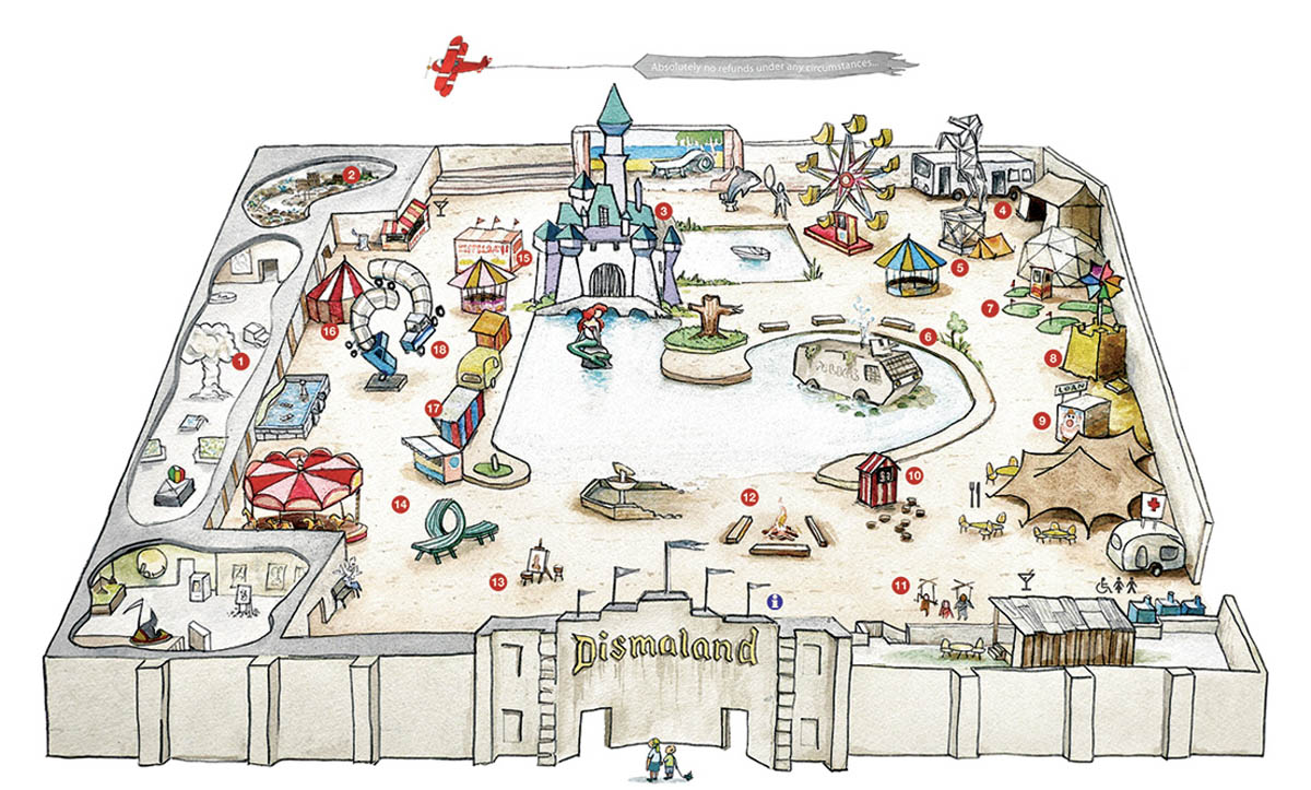 Mapinha do parque (imagem: reprodução/dismaland.co.uk)