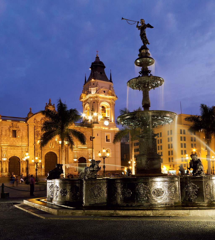Em Lima, a Plaza das Armas, que foi o coração do império espanhol