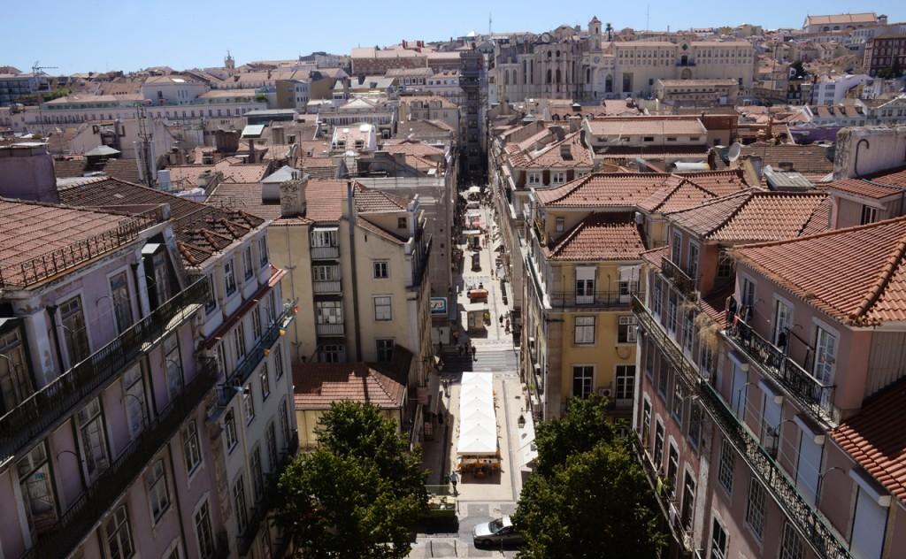 Baixa e Elevador de Santa Justa, vistos do terraço da Pollux (Foto: Ora, Pois!)