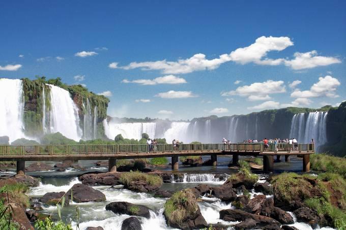 Cataratas do Iguaçu, no Parque Nacional do Iguaçu Foz do Iguaçu, Paraná