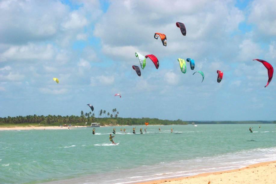 Praia Barra do Cunhaú, no Rio Grande do Norte