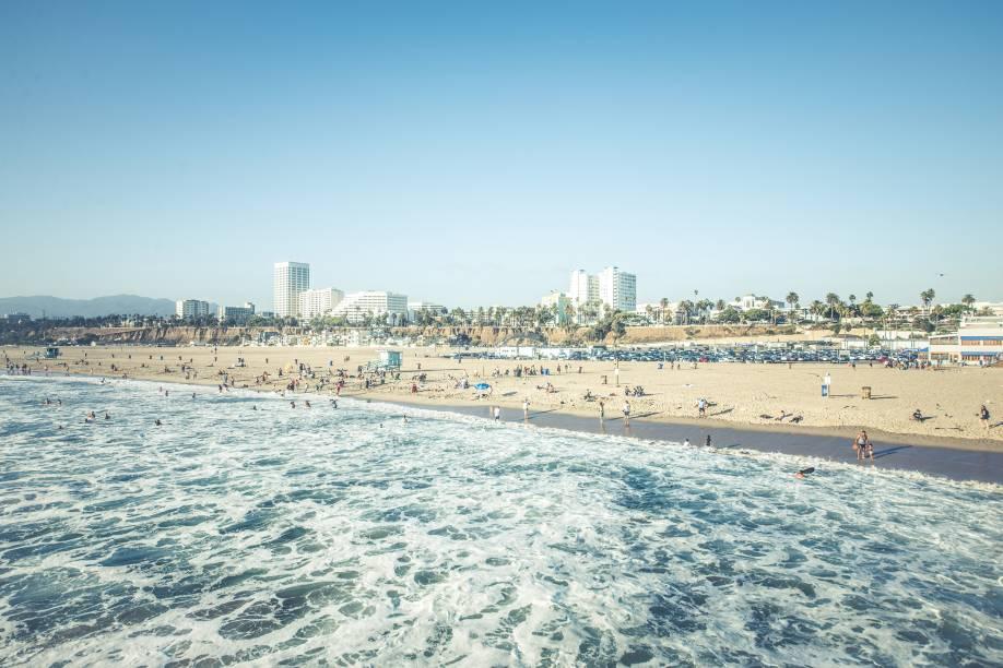 Santa Monica é muito procurada por jovens durante o verão, por ser um point moderninho e sustentável