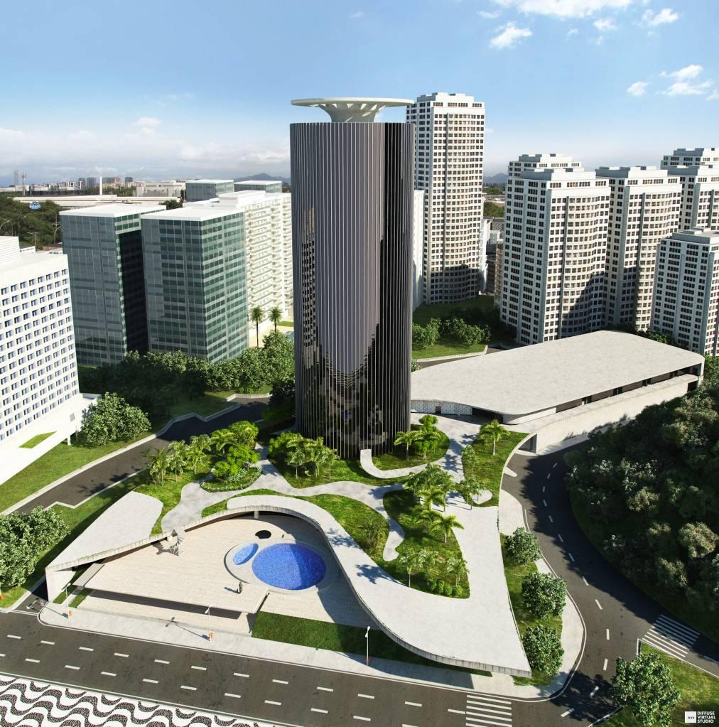 Projeção do Gran Meliá Nacional, agora aberto na zona sul do Rio de Janeiro. (Foto: divulgação)