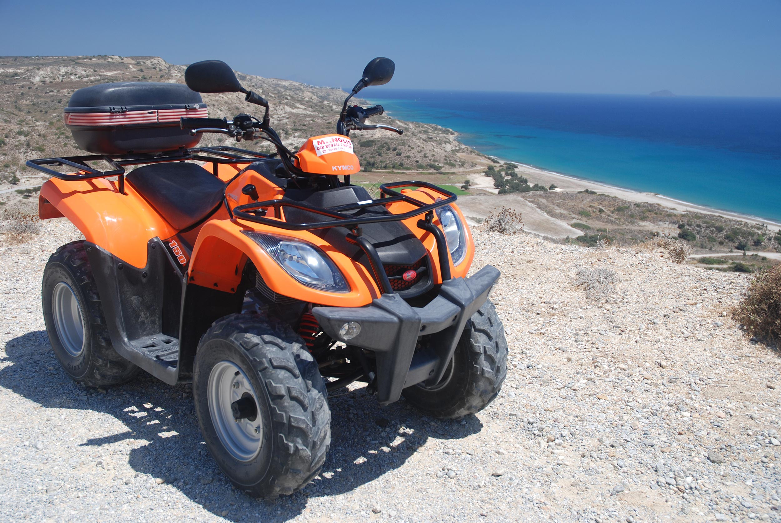 Quadriciclo na ilha de Kos, na Grécia
