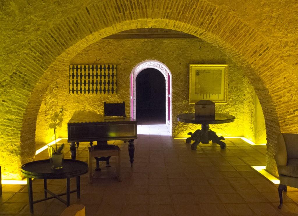 No interior do edifício da Quinta da Bacalhôa fica parte da colecão de obras do coleccionador José Berardo