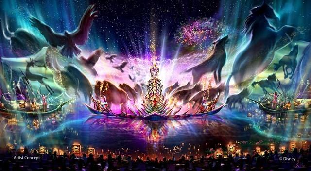 Imagem conceitual do show Rivers of Light (Foto: divulgação)