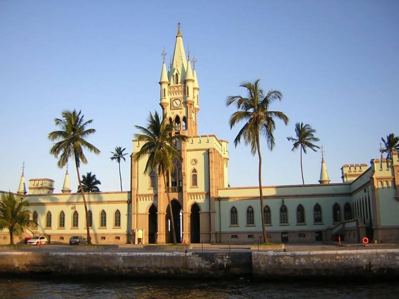 Fachada do edifício da Ilha Fiscal, no Rio de Janeiro (RJ). Castelinho de estilo gótico guarda uma exposição que retrata o último baile do Império, realizado ali dias antes da Proclamação da República em 1889