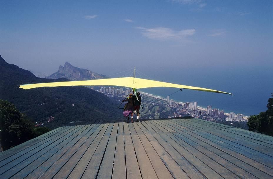 Rampa da Pedra Bonita, para salto de asa delta, no bairro de São Conrado, no Rio de Janeiro (RJ)