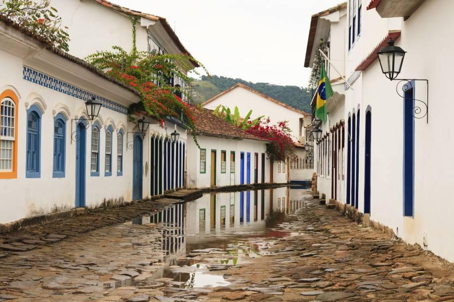 O casario colonial do centro histórico de Paraty (RJ), está entre os mais conservados do Brasil