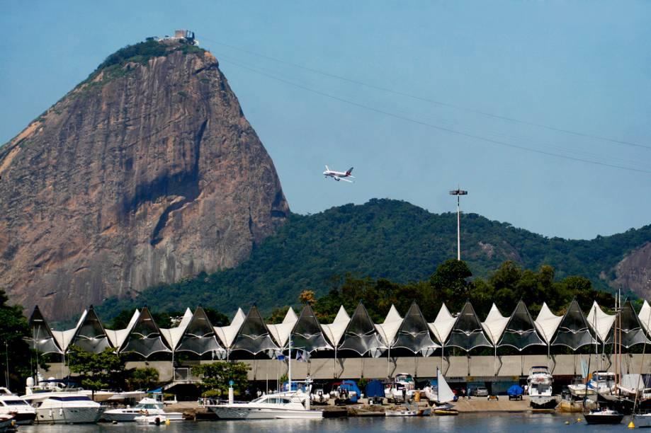 Vista da Marina da Glória e do Pão de Açúcar no Rio de Janeiro (RJ)