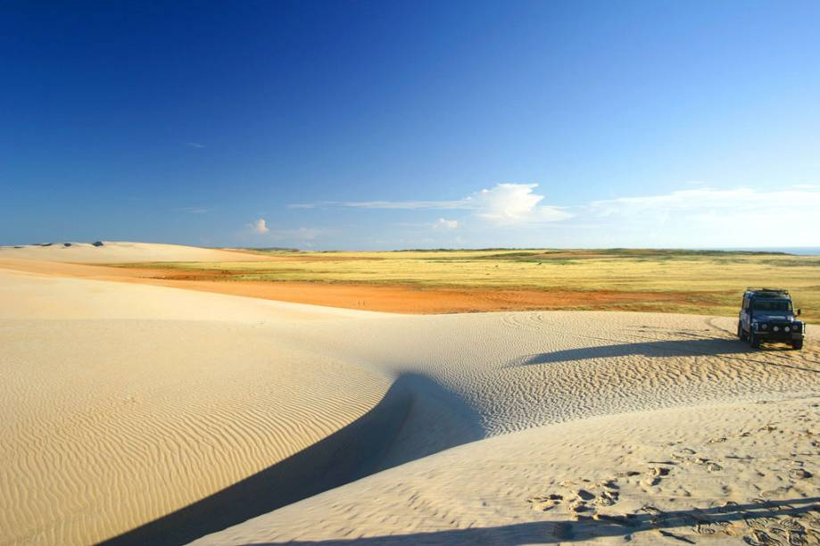 Dunas do Rosado na Praia do Rosado, Areia Branca (RN)