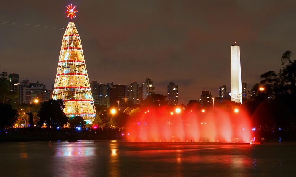 Natal no Parque do Ibirapuera, em São Paulo